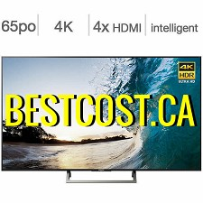 Télévision DEL 65'' XBR65X850E 4K UHD HDR 120hz Android TV Wi-Fi Sony