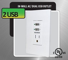 Prise Murale et Chargeur 2x Port USB (2.4A) MWP2 - NEUF
