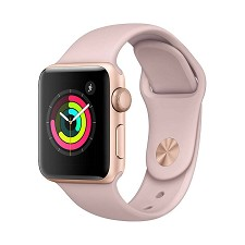 Montre Intelligente Apple Watch Serie 3 (38mm) OR et Rose MQKW2CL/A