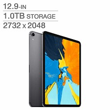 Apple iPad Pro 12.9'' 1To A12X Bionic chip Wi-Fi (Gris Cos) MTFR2VC/A