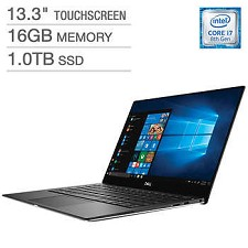 Dell Laptop 13.3'' XPS9370-7040SLV i7-8550U 16GB RAM 1TB SSD Win 10