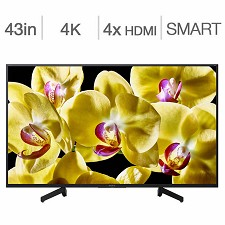 Télévision DEL 43'' XBR43X800G 4K UHD HDR SMART ANDROID WI-FI SONY