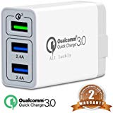 Chargeur mural USB 3.0 Quick Charge 3A max. double port USB 5V/2,4 QC3