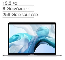 Apple Macbook Air 13'' i5 256GB SSD 8GB AppleCare+ Z0YK0006Z -Français