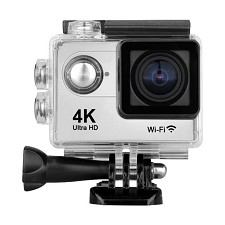 Action Sport Camera  2'' UHD 4K 60/30 Fps WiFi - Silver