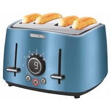 Electric Toaster Blue 4 slots STS 6072BL Sencor New