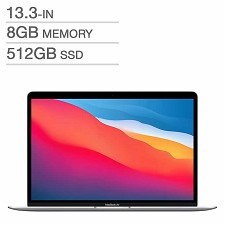 Apple MacBook Air 13.3'' M1 512Go SSD 8Go MGNA3LL/A Argenté - Anglais